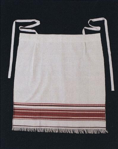 Technologie tkaní činovati na Horňácku - zástěra