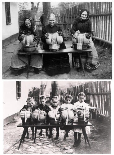 Dvě generace krajkářek, konec 19. století